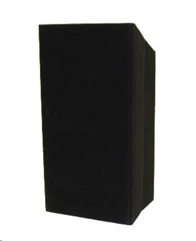 Where to find Podium Stand Up Black Carpeted in Omaha