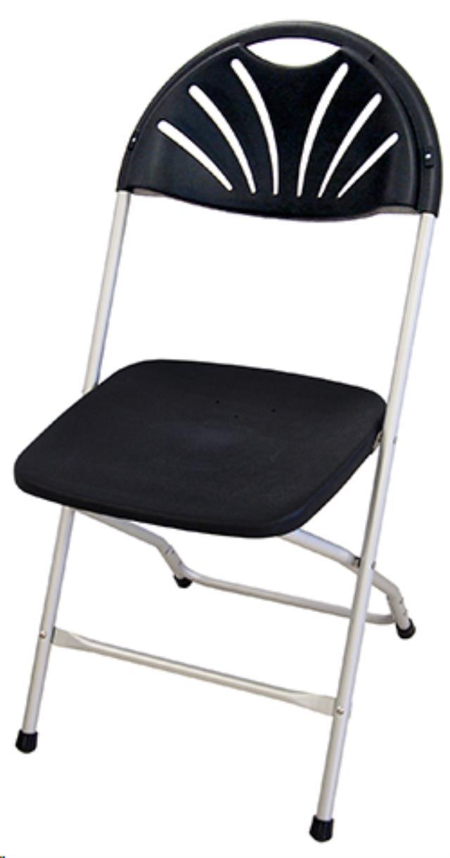 Chair Black Chrome Folding Rentals Omaha Ne Where To Rent