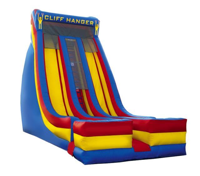Inflatable Water Slide Rental Omaha: SPACE WALK CLIFF HANGER 22 FOOT SLIDE Rentals Omaha NE