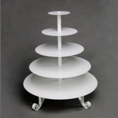 Rental store for Cupcake Stand  White 5 Tier in Omaha NE