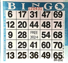 Rental store for Bingo Sheets  250ct in Omaha NE