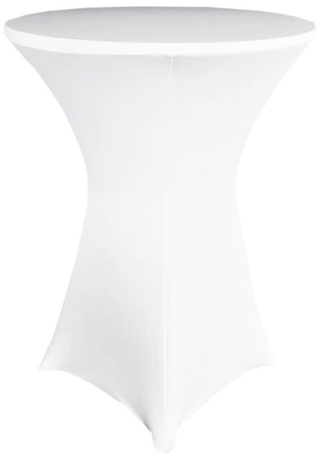 Where to find Spandex Cocktail Table Cover White in Omaha
