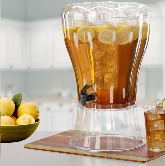 Drink Dispenser Clear 3 Pc W Insert Rentals Omaha Ne