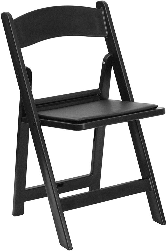Where to find Chair, Black Resin Padded Folding in Omaha